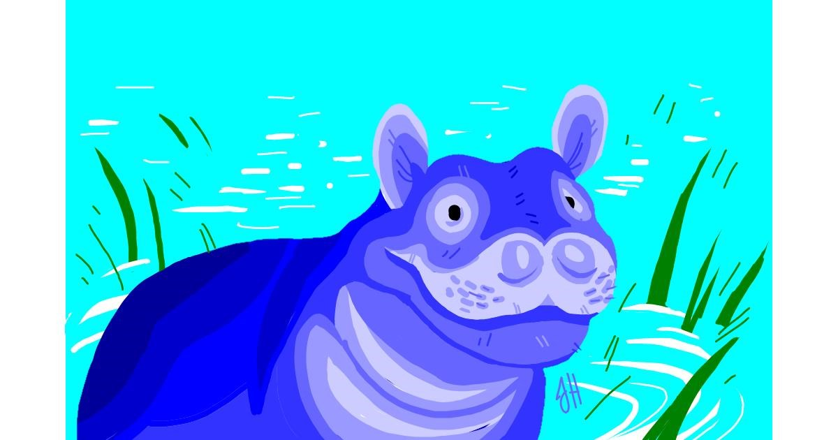Hippo drawing by Jevil