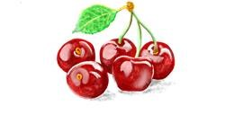 Cherry drawing by GJP