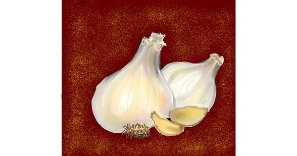 Garlic drawing by Dream