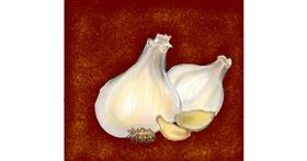 Garlic drawing by Dream