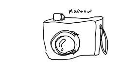 Drawing of Camera by horse
