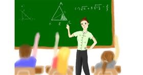 Drawing of Teacher by Wizard