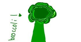 Broccoli drawing by Claudia