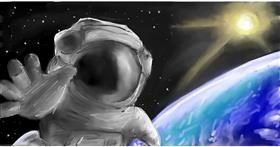 Drawing of Astronaut by Soaring Sunshine