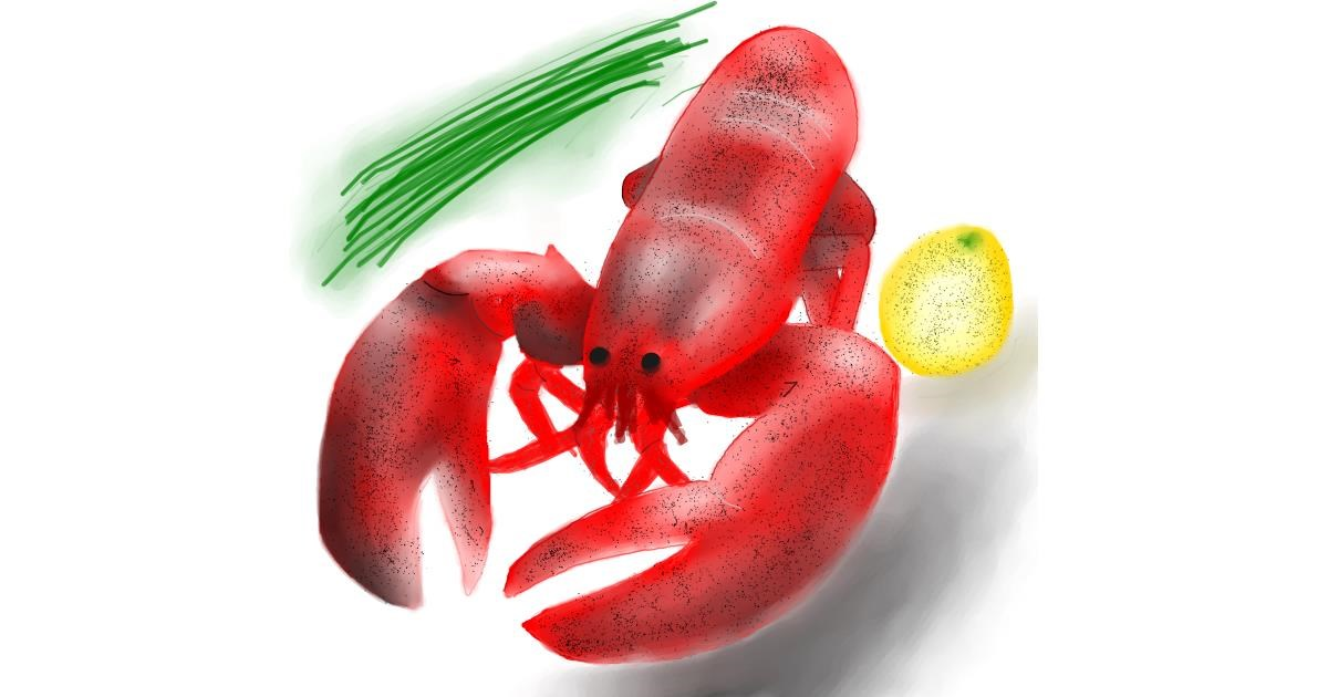 Drawing of Lobster by 🇭🇰 Acem Lam