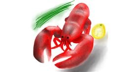 Lobster drawing by 🇭🇰 Acem Lam