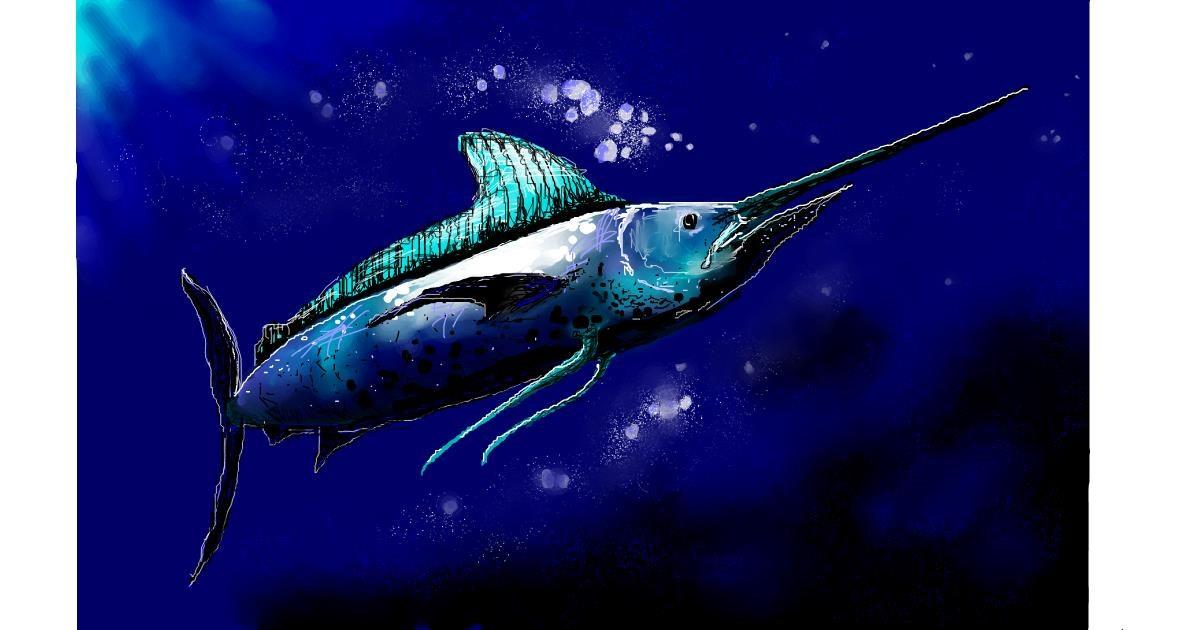 Swordfish drawing by DaVinky