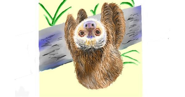 Sloth drawing by GJP