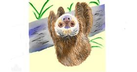 Drawing of Sloth by GJP