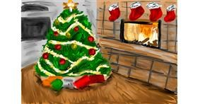 Christmas tree drawing by Soaring Sunshine