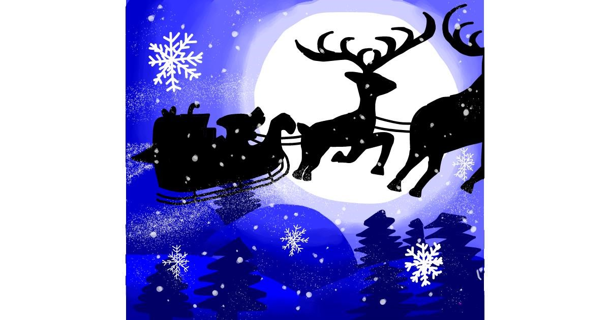 Sleigh drawing by Holy Kirbo