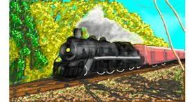 Train drawing by Humo de copal