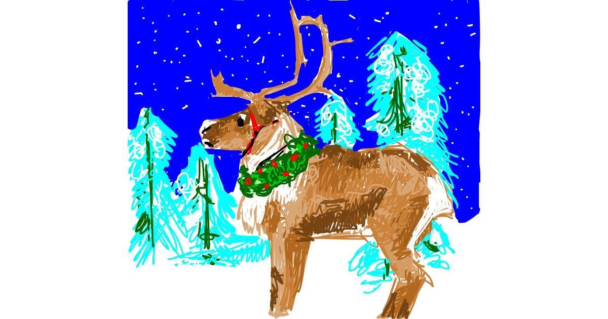 Drawing of Reindeer by RonNNIEE