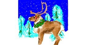 Reindeer drawing by RonNNIEE