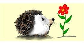 Hedgehog drawing by Debidolittle