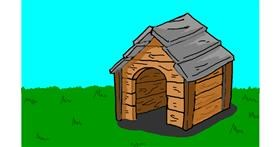 Dog house drawing by Humo de copal