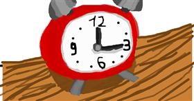 Alarm clock drawing by Unmoeglicher