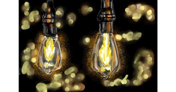 Light bulb drawing by Soaring Sunshine