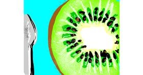 Kiwi fruit drawing by ℤ𝕠𝕖𝕏