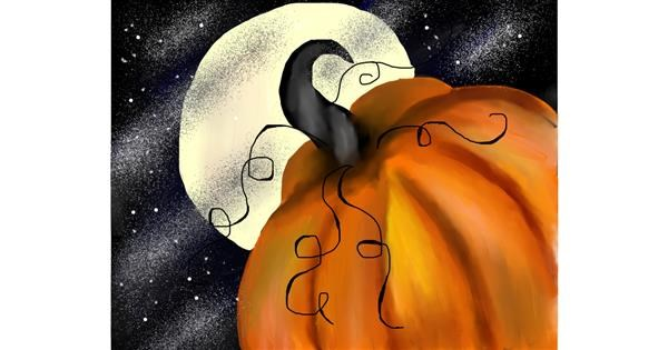Pumpkin drawing by Mitzi