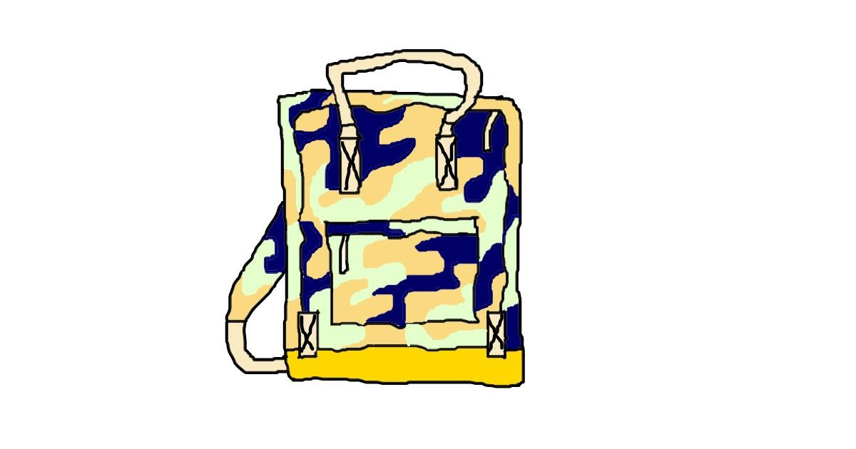 Drawing of Backpack by Sorya