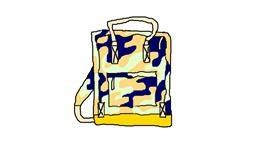 Backpack drawing by Sorya