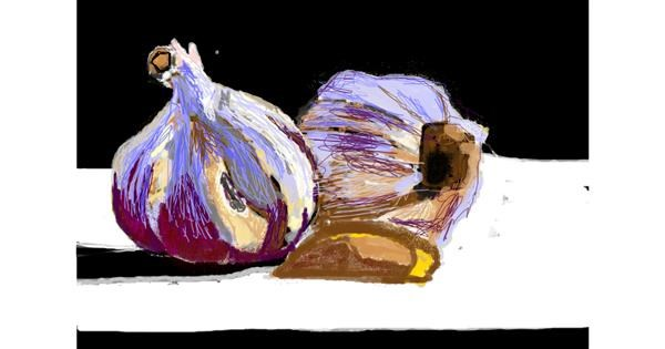 Garlic drawing by 𝐓𝐎𝐏𝑅𝑂𝐴𝐶𝐻™