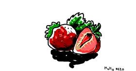 Strawberry drawing by :/
