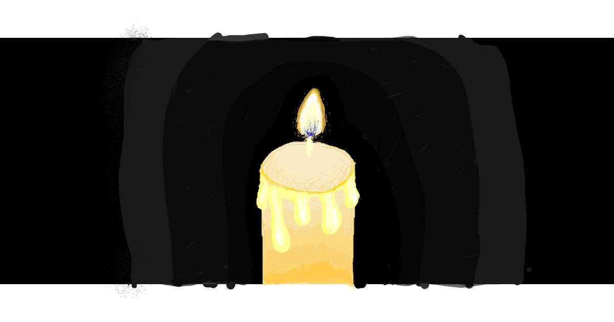 Candle drawing by coconut