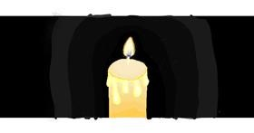 Drawing of Candle by coconut