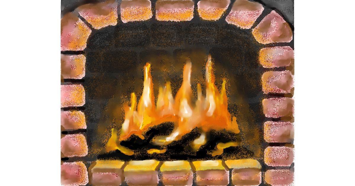 Fireplace drawing by MINNA
