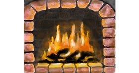 Fireplace drawing by MINNA
