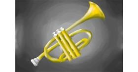 Trumpet drawing by IceCream