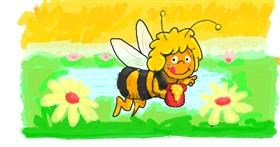 Bee drawing by Helena
