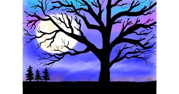 Tree drawing by Debidolittle
