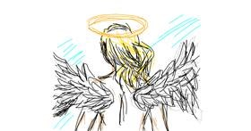 Angel drawing by zade