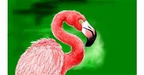 Flamingo drawing by DaVinky