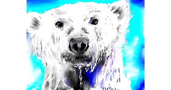 Polar Bear drawing by Andrea