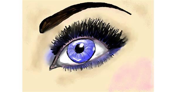 Eyes drawing by Debidolittle