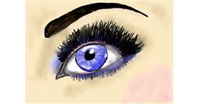 Eyes drawing by Debidolittle