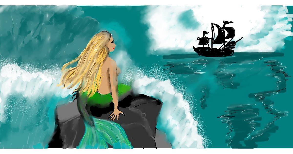 Mermaid drawing by SAM AKA MARGARET 🙄