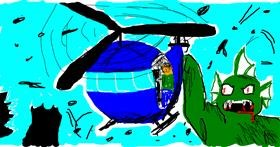 Helicopter drawing by polidoll