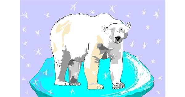 Polar Bear drawing by ThasMe13