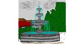Fountain drawing by Kat