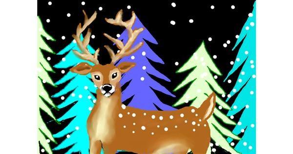 Reindeer drawing by Debidolittle
