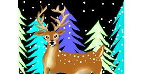Reindeer drawing by Debidolittle