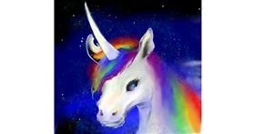 Unicorn drawing by Sn00pi