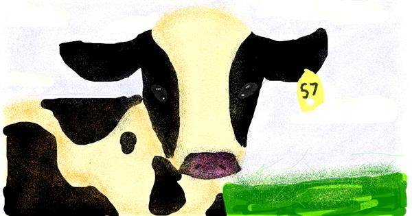 Cow drawing by cookie karr