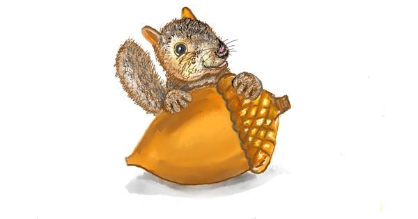 Acorn drawing by GJP