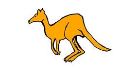 Kangaroo drawing by IlikeDancing